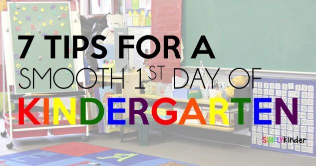Teacher Tips for the First Day of Kindergarten