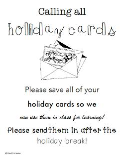 Christmas Card Writing Center