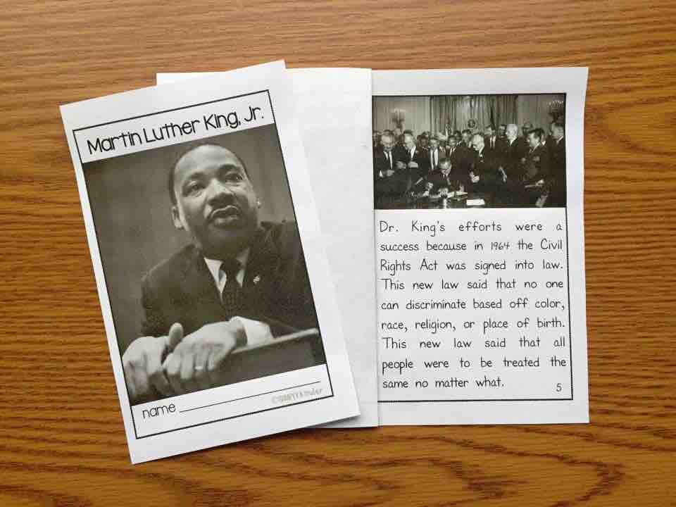 Martin Luther King book using real photos.