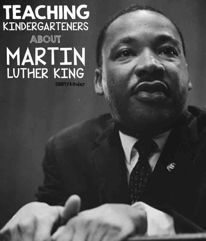 Talking About Martin Luther King in kindergarten. Activities, books, and more!