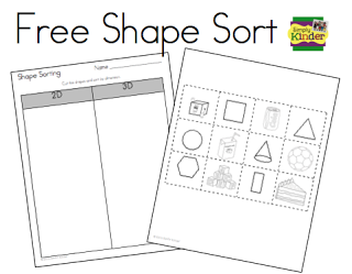 Shape Sorting Freebie