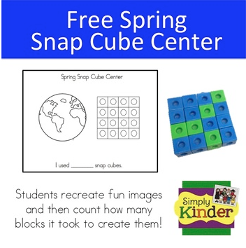 Free Spring Snap Cube Center from Simply Kinder!