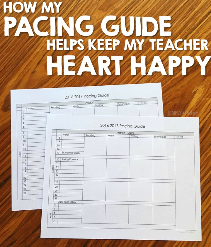 free pacing guide
