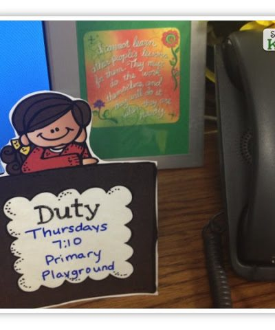 Duty Sign Freebie from Simply Kinder