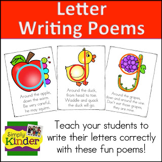 Letter and Number Writing Poems