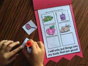Celebrate Red Ribbon Week in Kindergarten by talking about making healthy choices! and being kind to yourself and others!
