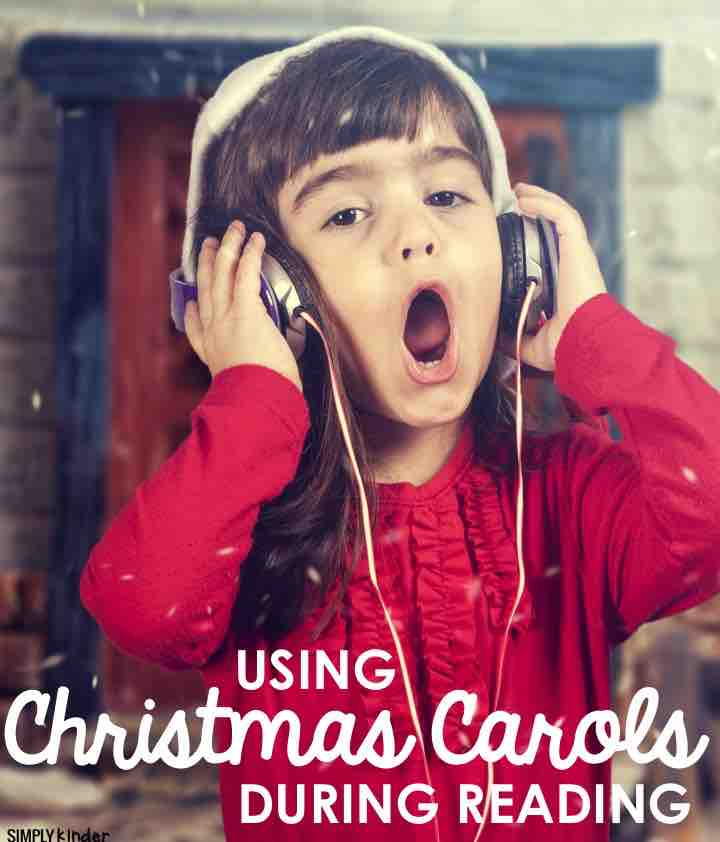Use Christmas carols to work on reading with your students. Free printables from Simply Kinder.