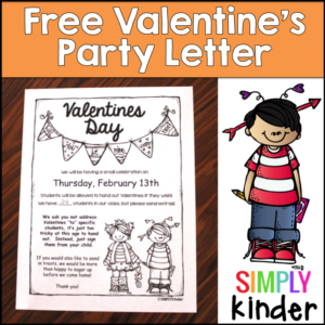 Freebielicious Editable Valentines Day Party Letter