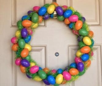 Easter Plastic Egg Wreath DIY