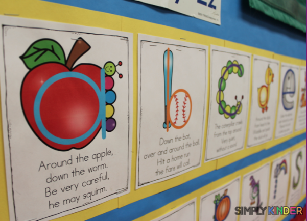 Poems To Teach Letter Formation In Kindergarten