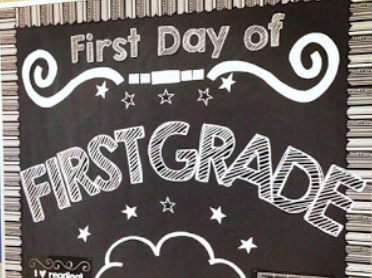 First Day Chalkboard Bulletin Board Set – How It Works