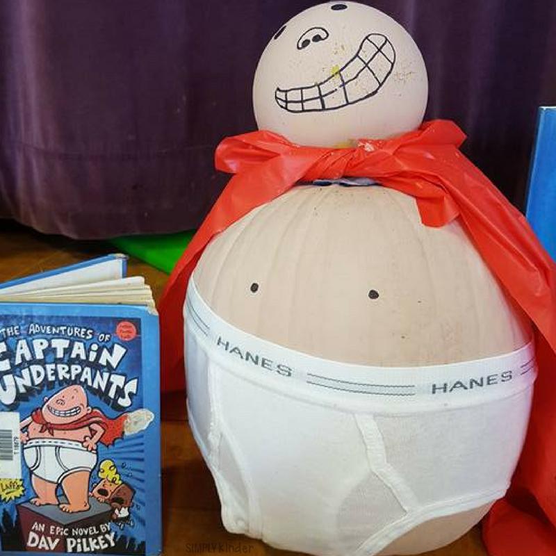 Pumpkin Book Report - Captain Underpants