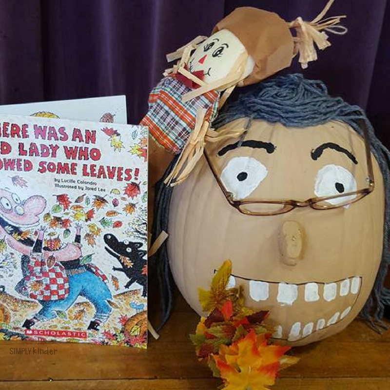 Pumpkin Book Report - There Was An Old Lady Who Swallowed Some Leaves