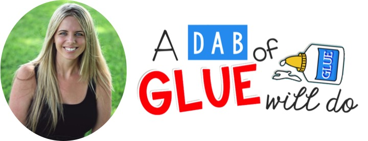 A Dab of Glue Will Do on Simply Kinder