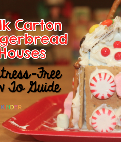 Milk Carton Gingerbread Houses – A How To with Freebies!