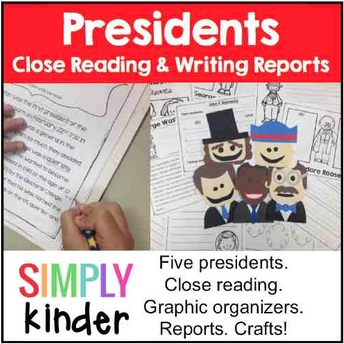 President's Day, President Reports, Kindergarten, Teachers Pay Teachers
