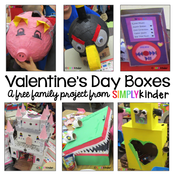 Valentine's Day Box, Family Project, Kindergarten, Simply Kinder