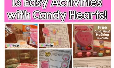 Valentine's Day Kindergarten, Candy Heart Science, Teachers Pay Teachers