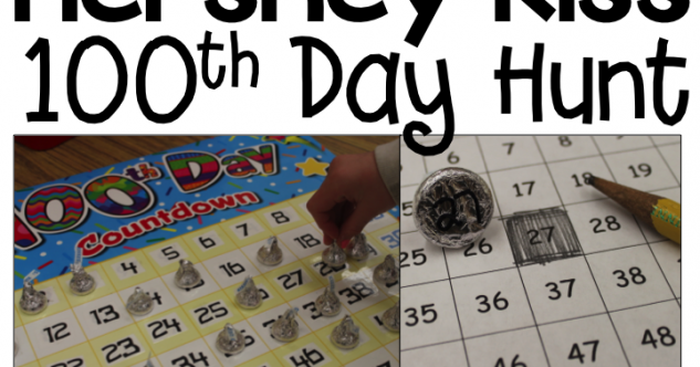 100th Day Hershey Kiss Hunt