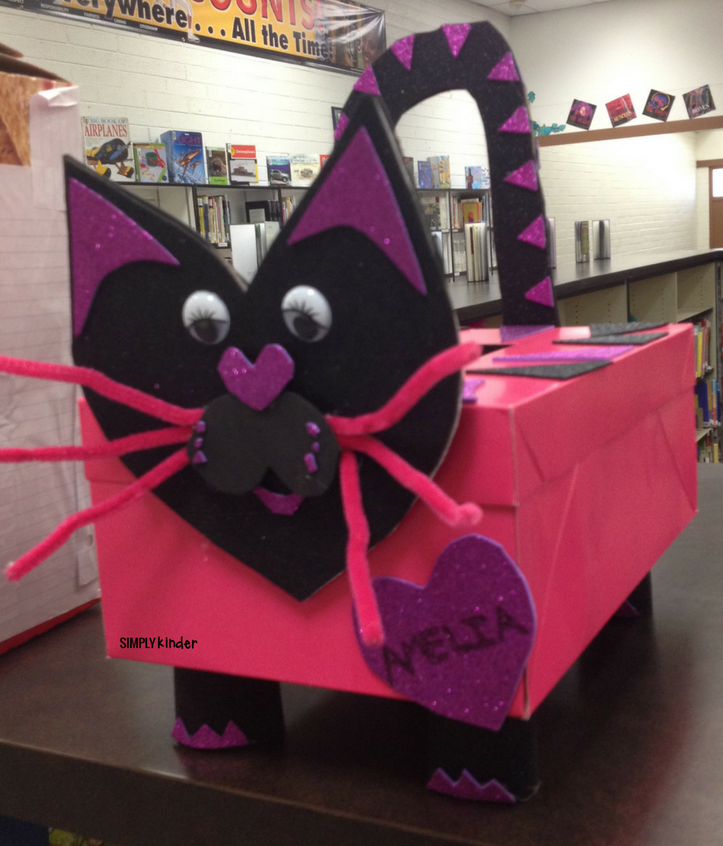 Valentine's Day Box Family Project from Simply Kinder. Send home this free letter and have your student create an amazing box at home with their family to collect valentine's in.