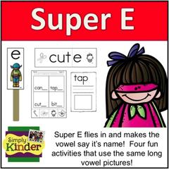 Silent E Simply Kinder Kindergarten Blog