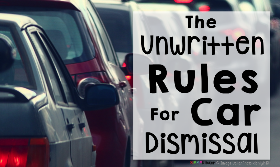 The Unwritten Rules of Car Dismissal.  It's so easy!!!  #SimplyKinder