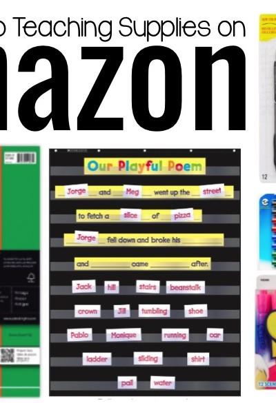 Teacher Supplies on Amazon!