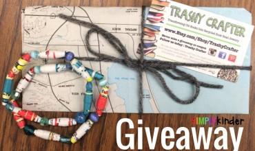 Trashy Crafter Book Bracelet Giveaway at Simply Kinder!