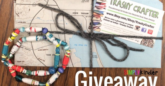 Recycled Book Bracelet Giveaway