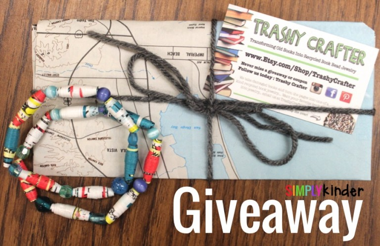 Trashy Crafter Book Bracelet Giveaway at Simply Kinder!