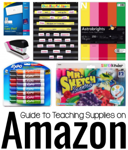 Guide to Teaching Supplies on Amazon from #SimplyKinder.