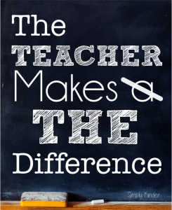 Teacher Makes The Difference Flyer