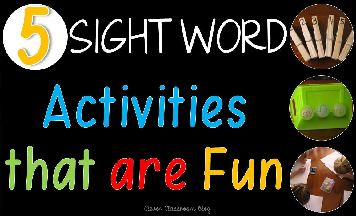5 Sight Word Activities that are Fun from Clever Classroom