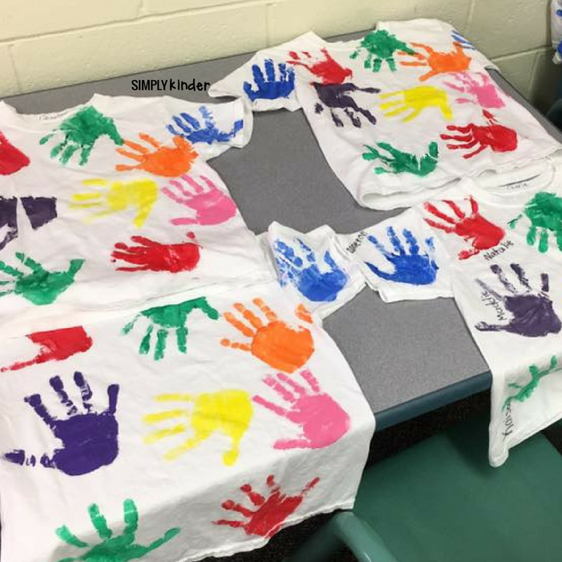 Handprint Shirts from Ms. LaRosa - Simply Kinder