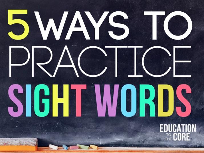 5 Ways to Practice Sight Words