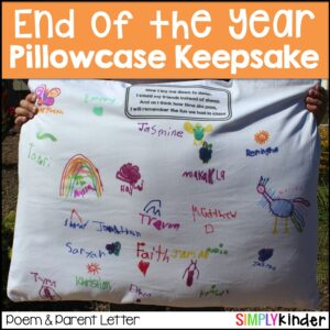 End of Year Pillowcases students sign!