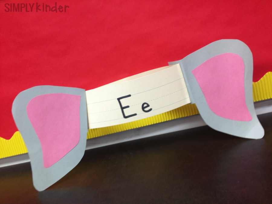 Letter E Alphabet Hat. Great for letter of the week or alphabet craft!