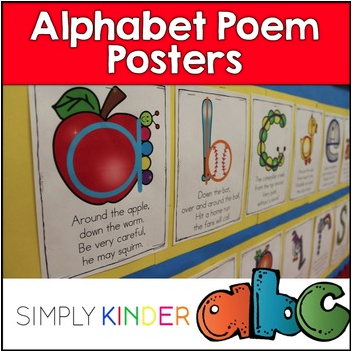 Lower case alphabet poems from Simply Kinder. Learn to write the letters using these easy to remember poems!