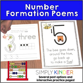 Number Poems from Simply Kinder!