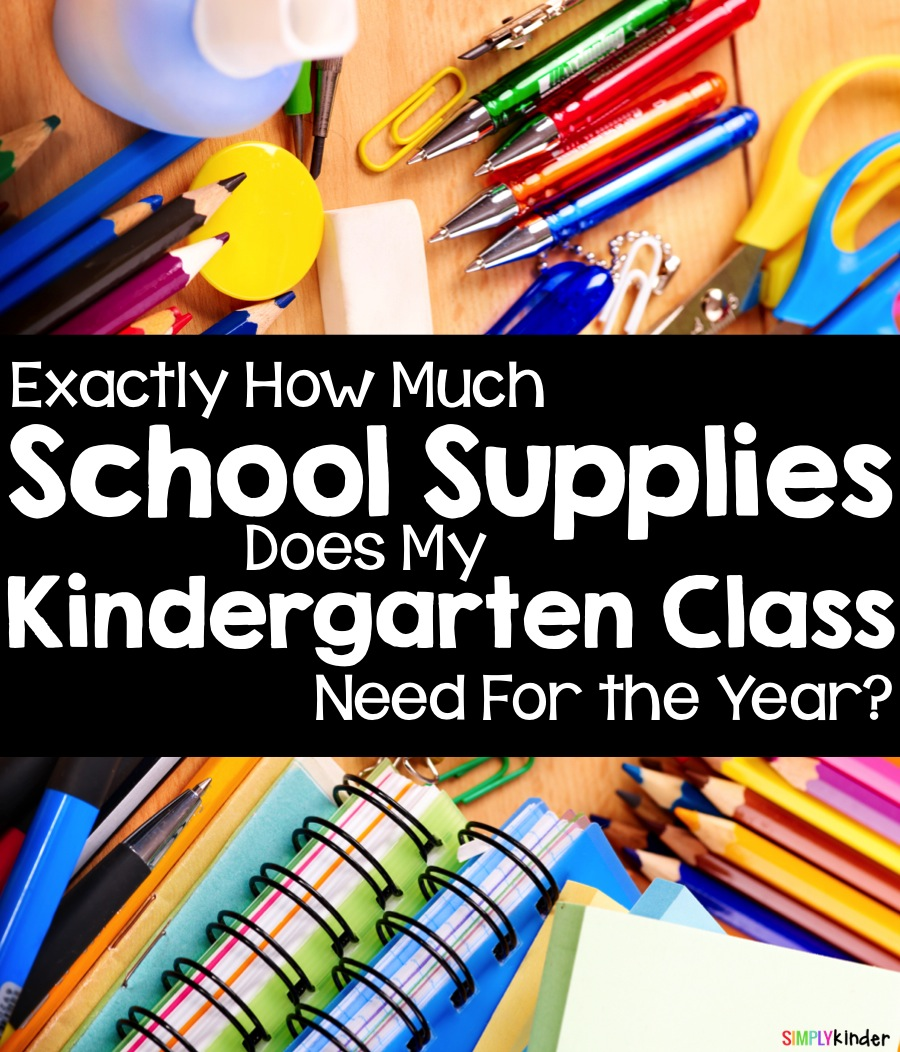 How much of each school supply should you make sure your kindergarten class has at the start of the year?  Great for back to school!