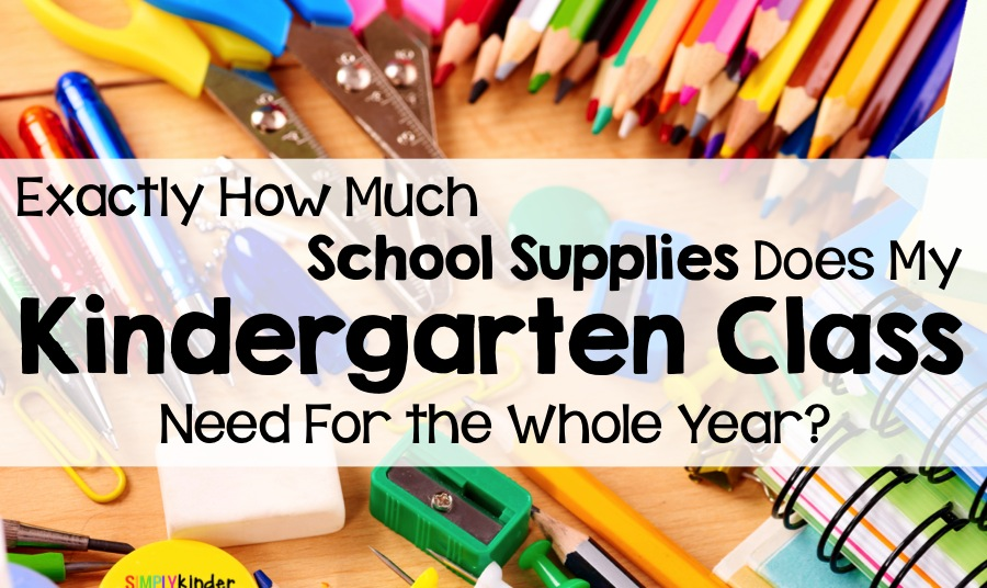 How much supplies will my kindergarten classroom need? Great for back to school teacher shopping!