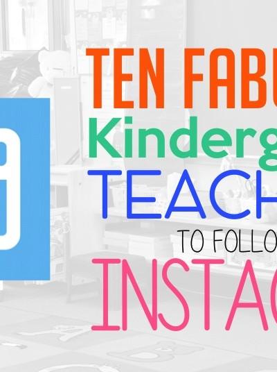 Kindergarten Teachers To Follow on Instagram