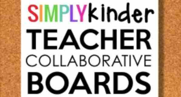 Simply Kinder Collaborative Teacher Boards