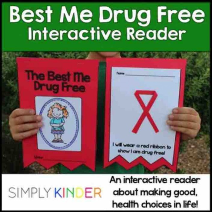 Great little Red Ribbon Week book to make with your students. Talks about healthy living and is very appropriate for preschool, kindergarten, and first grades! Drug free is the way to be!