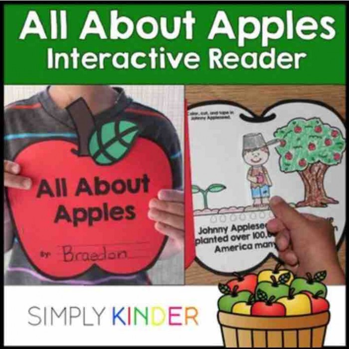 Interactive apples book where kids manipulate the concepts that are taught! Great for kindergarten!