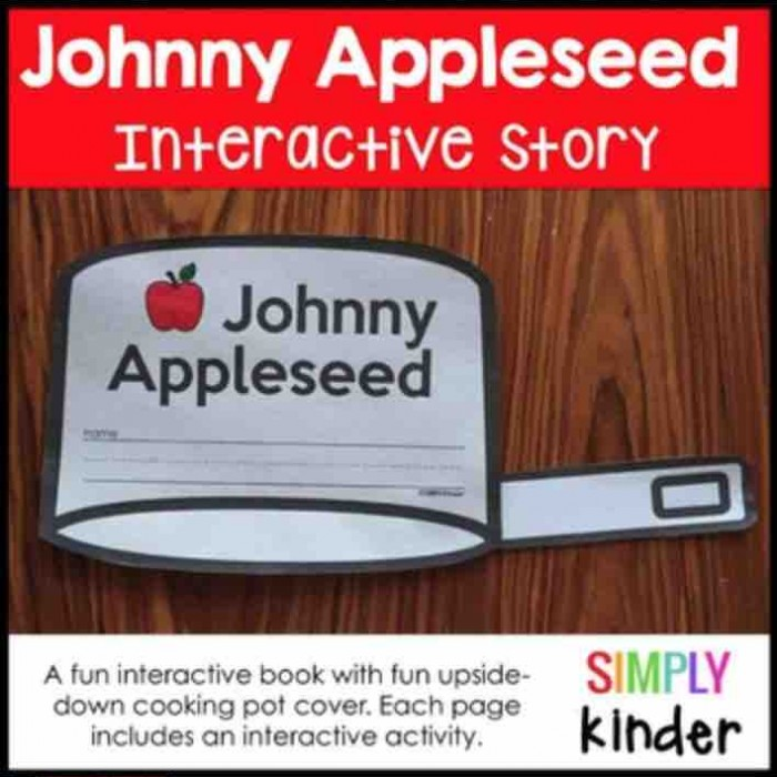 Johnny Appleseed unit for kindergarten, preschool, and even first grade! Students make this fun book and each page has an interactive activity to reinforce the concept.