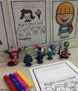 Work on writing with this free Disney Inside Out writing activity from Simply Kinder! Help your preschool, kindergarten, and first grade students work on emotional intelligence through identifying the characters and relating the feelings to their real life experiences!