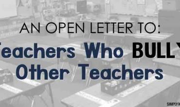 Teachers Who Bully Other Teachers