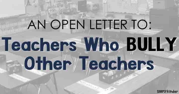 Teachers Who Bully Other Teachers