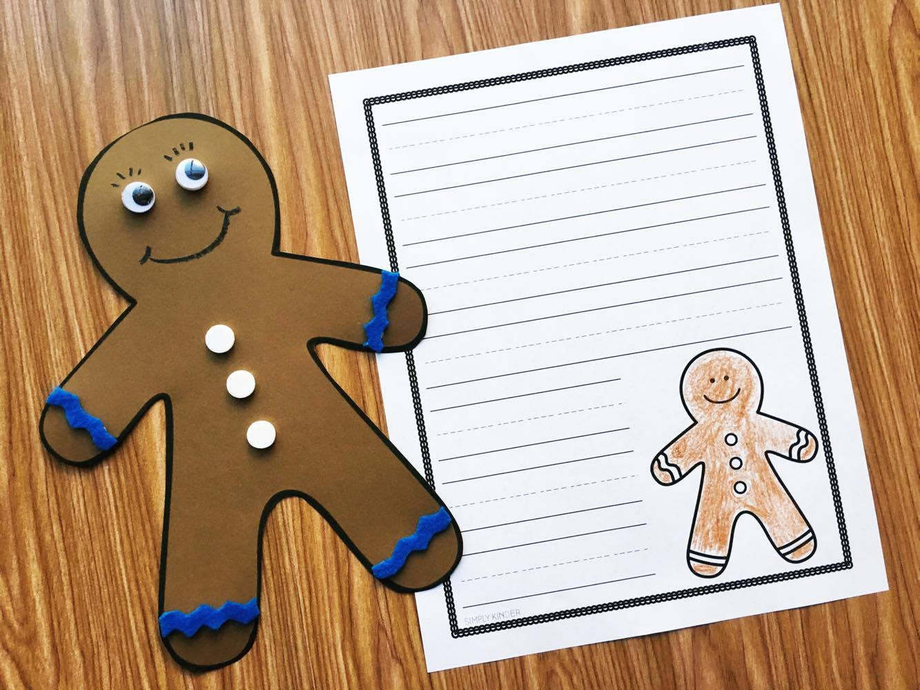 Free Gingerbread Template from Simply Kinder.